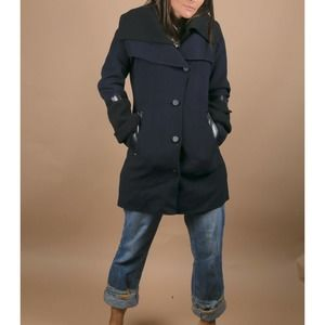 MACKAGE Navy Wool Jacket Coat Size S